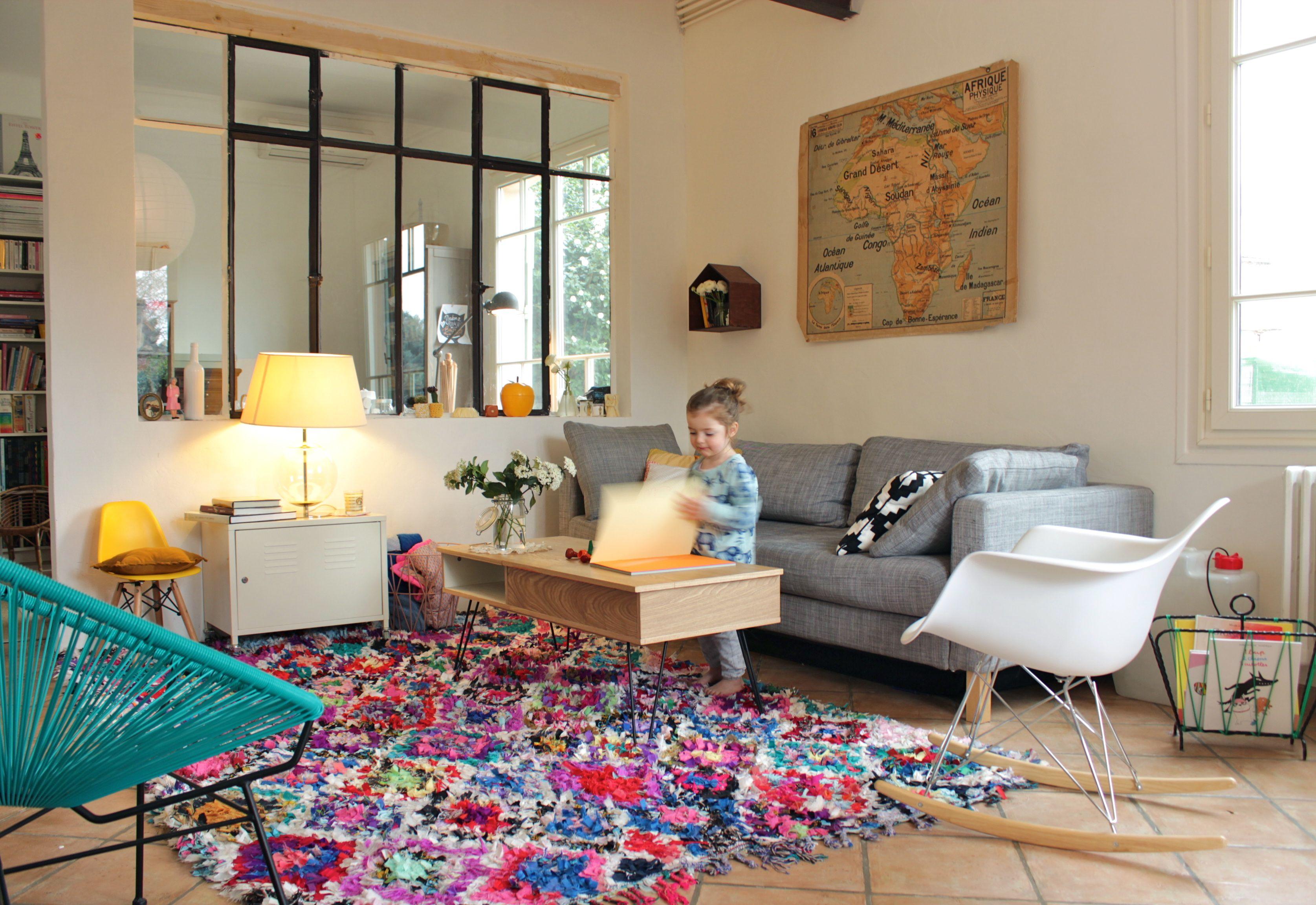 Tapis Salon Couleur Rouille déco: le précieux tapis et le nouveau salon - ritalechat