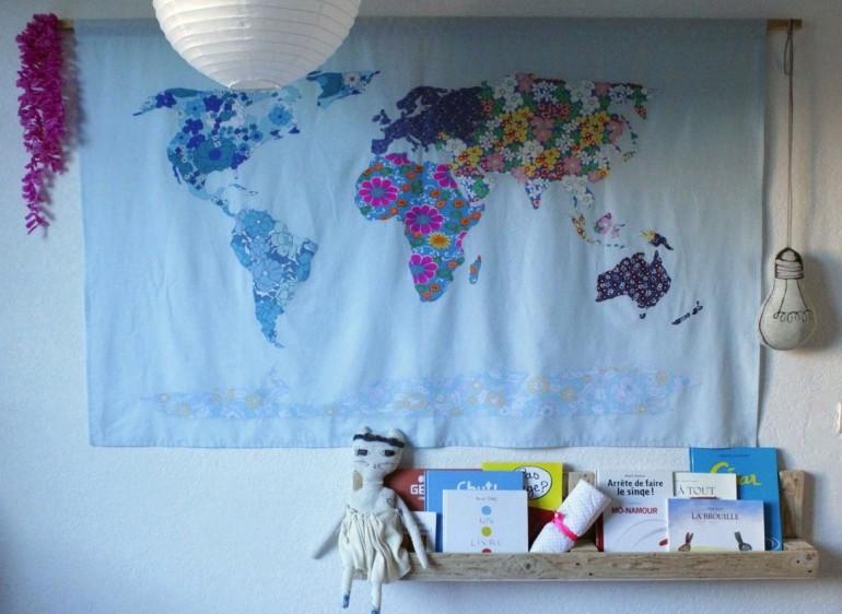 WORLD MAP, ET COUDRE LE MONDE.