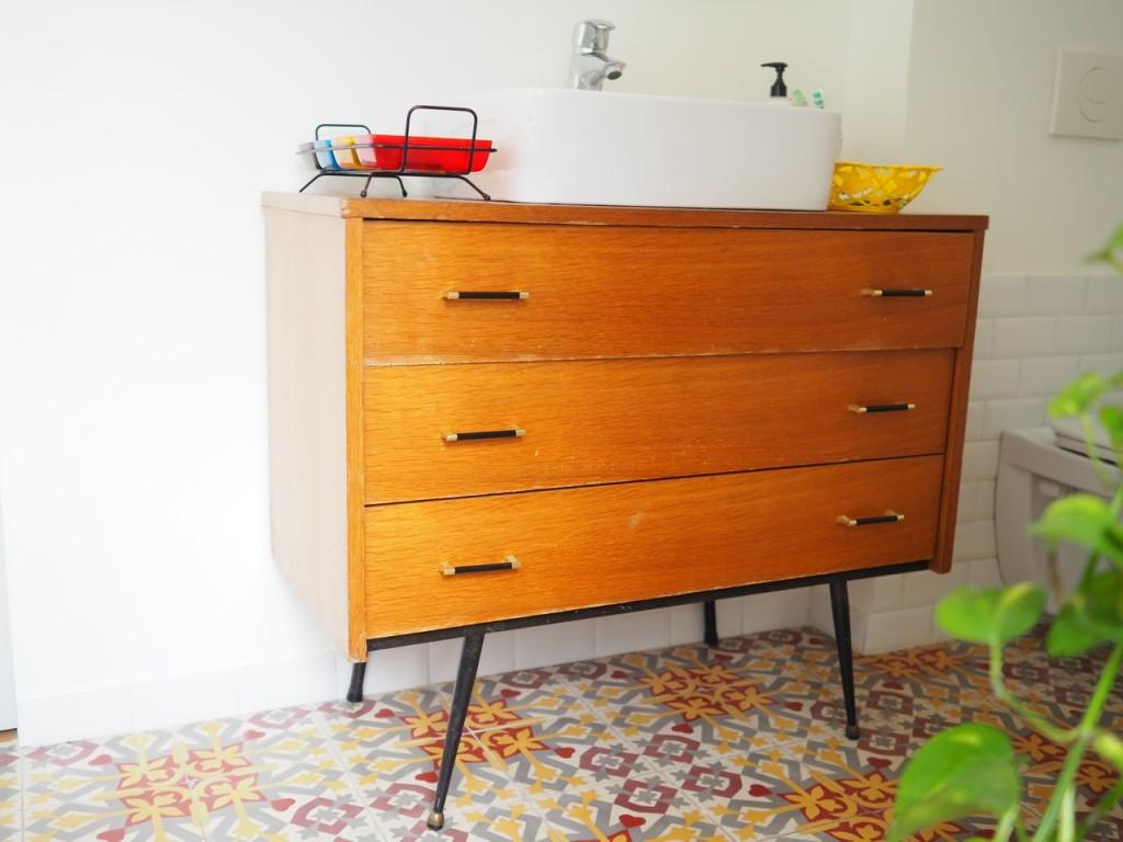 meuble vintage salle de bain