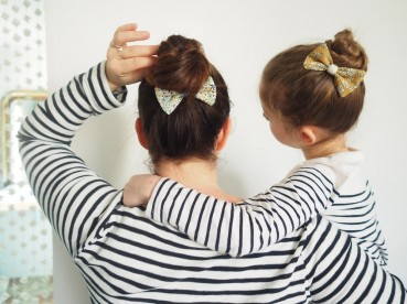 DIY: une semainier de Noeuds pour vos cheveux